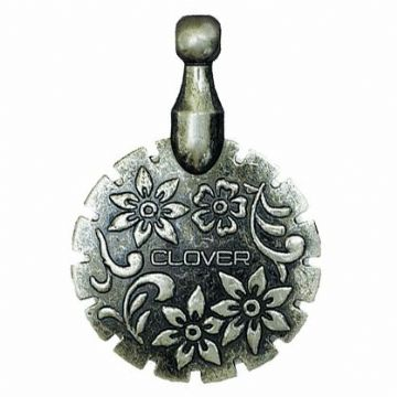 Clover Thread Cutter Pendant -Antique Silver